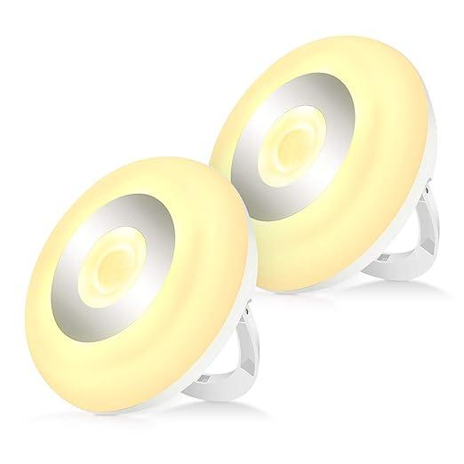Luz de Noche LED con Sensor de Movimiento, Magntica, Lámpara de Noche Inalámbrica de Pilas para Niños para Armario, Pasillo, Escaleras, Cocina, ...