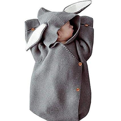 Saco de dormir para bebé, manta de punto de lana para bebé, saco de
