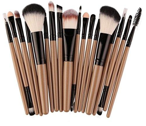 18 Piece Makeup Brushes Set Powder Eye Shadow Eyeliner Contour Blending Cosmetic Make Up Tools Professional Natural Beauty Palette Eyeshadow Fascinating Popular Colorful Rainbow Hair Kit, Type-02