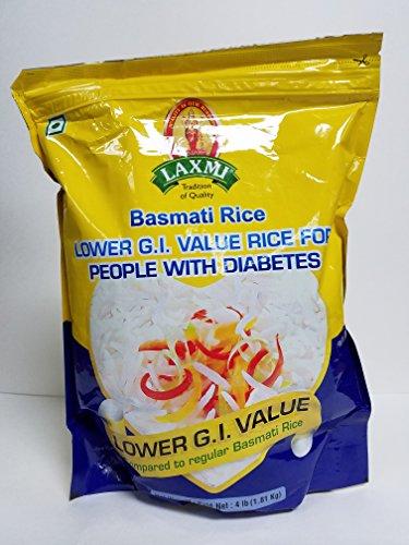 Laxmi Lower Glycemic Index Value Basmati Rice - 4lb (Ideal for Diabetics)