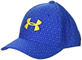 Under Armour Boys' Printed Blitzing 3.0 Cap, Royal (400)/Taxi, Youth X-Small/Small