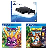 Pack PS4 500 Go + Spyro Reignited Trilogy + Crash Bandicoot N'Sane Trilogy