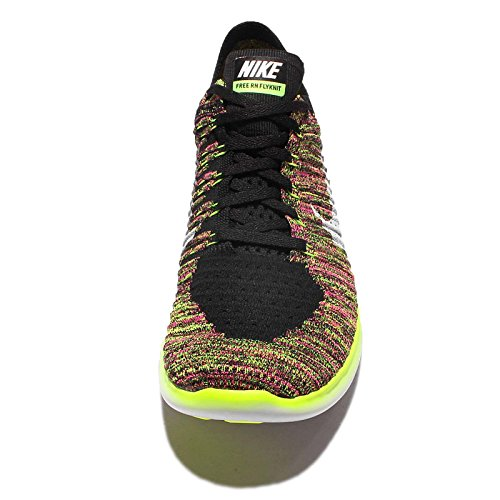 Nike Mädchen Wmns Free Rn Flyknit Oc Laufschuhe Schwarz (Mehrfarbig / Multi-Color)