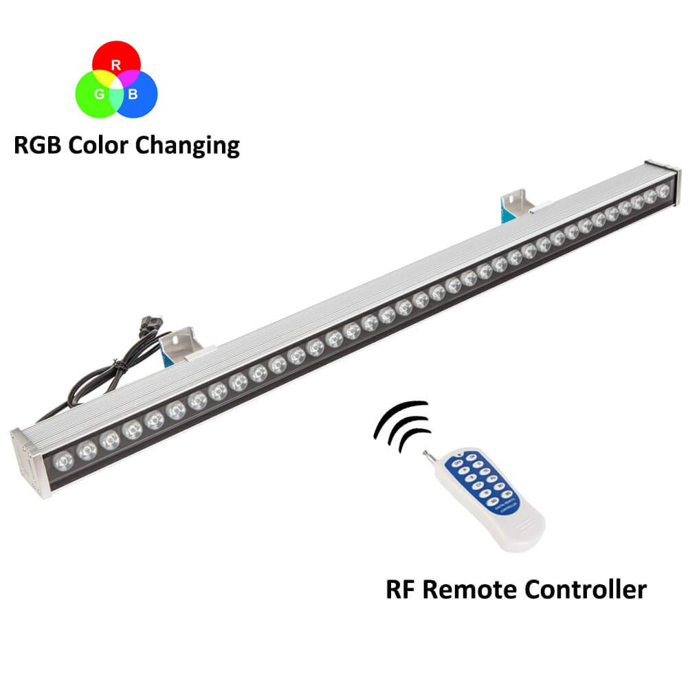 RSN LED Wall Washer Light,108W RGB Color Changing with RF Remote Controller,3.28ft/39.4inches Length, LED RGB Strip Light for Decorating Indoor and Outdoor by RSN LED (Image #1)