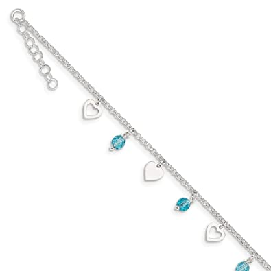 9cdf2568de Image Unavailable. Image not available for. Color: 925 Sterling Silver 9  Heart ...
