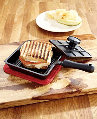 6 In Panini Cast Iron Pan Sandwich Lodge Breakfast Fry Mini Baking Bread With Press Pie Roasting Pancake Cooking Pans Kitchen Grill Cheap Tools Cookware Cooking Griddle For Gift (Panini Press For Stove compare prices)