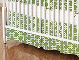 SheetWorld - Crib Skirt (28 x 52) - Citrus Links - Made In USA