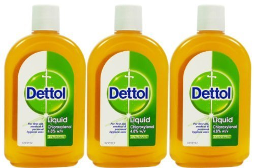 Dettol Liquid Antiseptic Disinfectant for First Aid Original 500ml (3) by Dettol ()