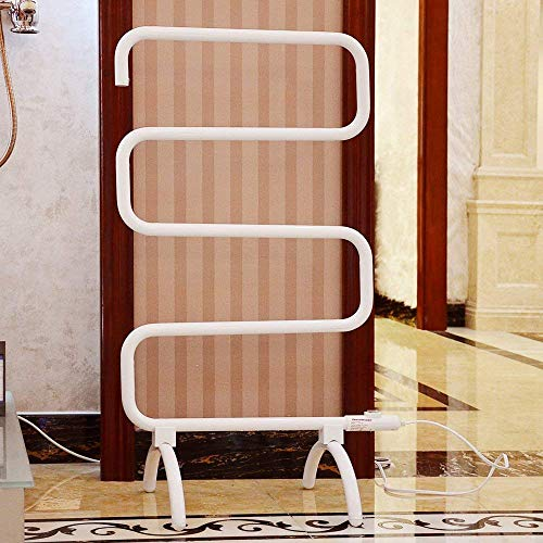 Homeleader Towel Warmer and Drying Rack, Heated Towel Rack, Wall Mount & Free Standing Towel Heater for Bathroom, 120W