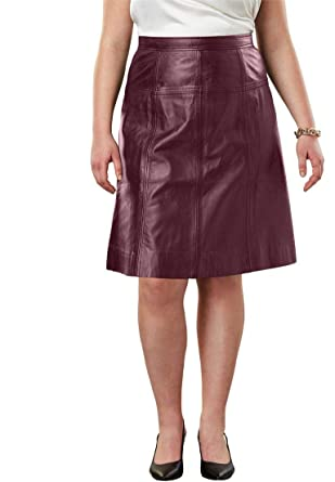 a4aa13b3c3f5 Jessica London Women s Plus Size A-Line Leather Skirt at Amazon Women s  Clothing store