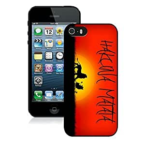 Awesome Iphone 5s Black Rubber Case Hakuna Matata Red Gifts Iphone 5 Durable Silicone Cover