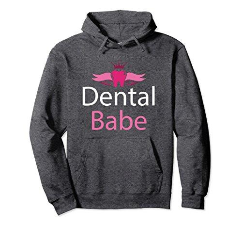 Unisex Dental Hygienist Gifts Dental Babe Women Gift Hoodie Fun Medium Dark Heather