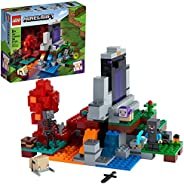 LEGO Minecraft The Ruined Portal 21172 Building Kit; Fun Minecraft Toy for Kids with Steve and a Wither Skelet