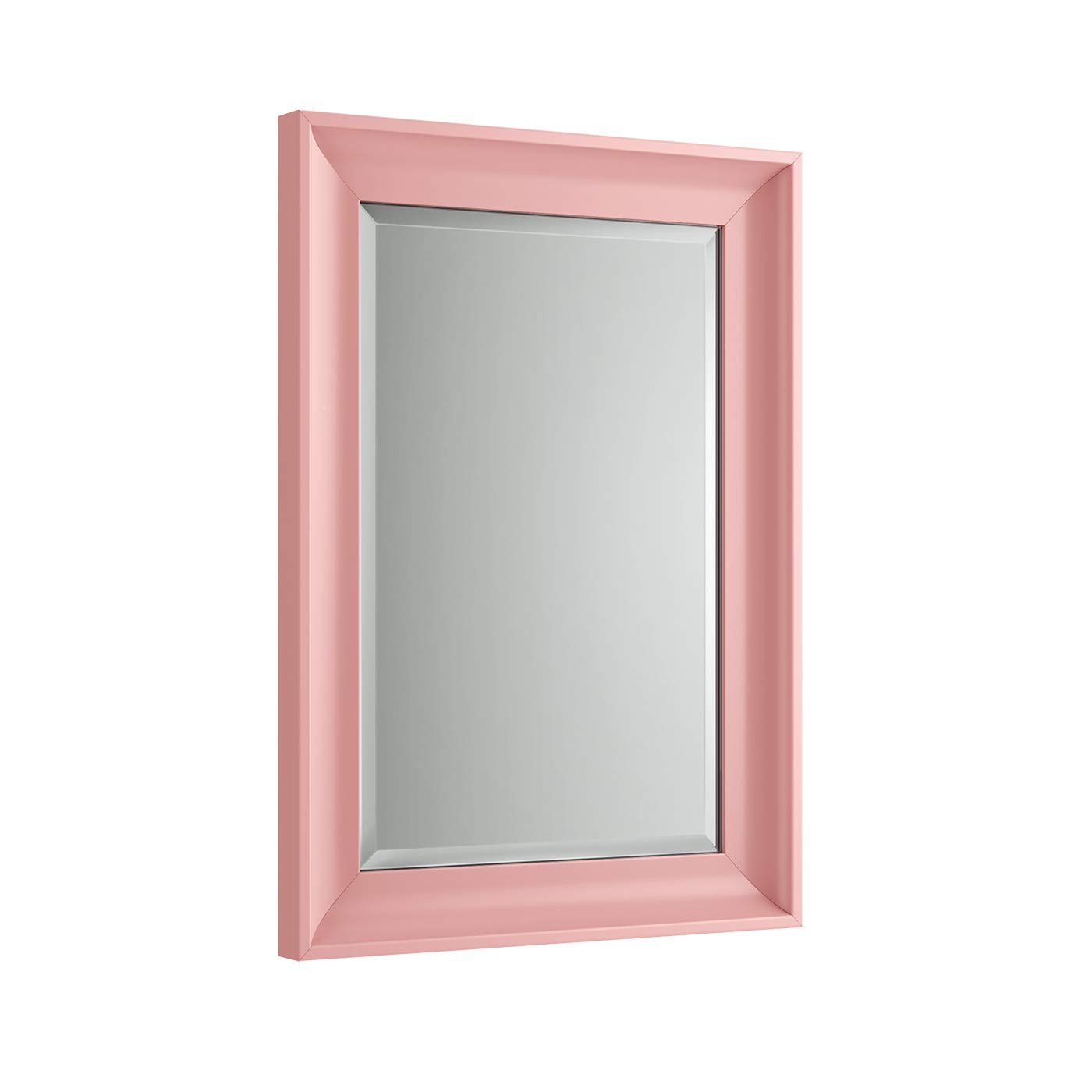 Traditional Lilac Purple Wall Mounted Bevelled Mirror 700 x 500 Eco Friendly Recycled Matte Painted Plastic Frame