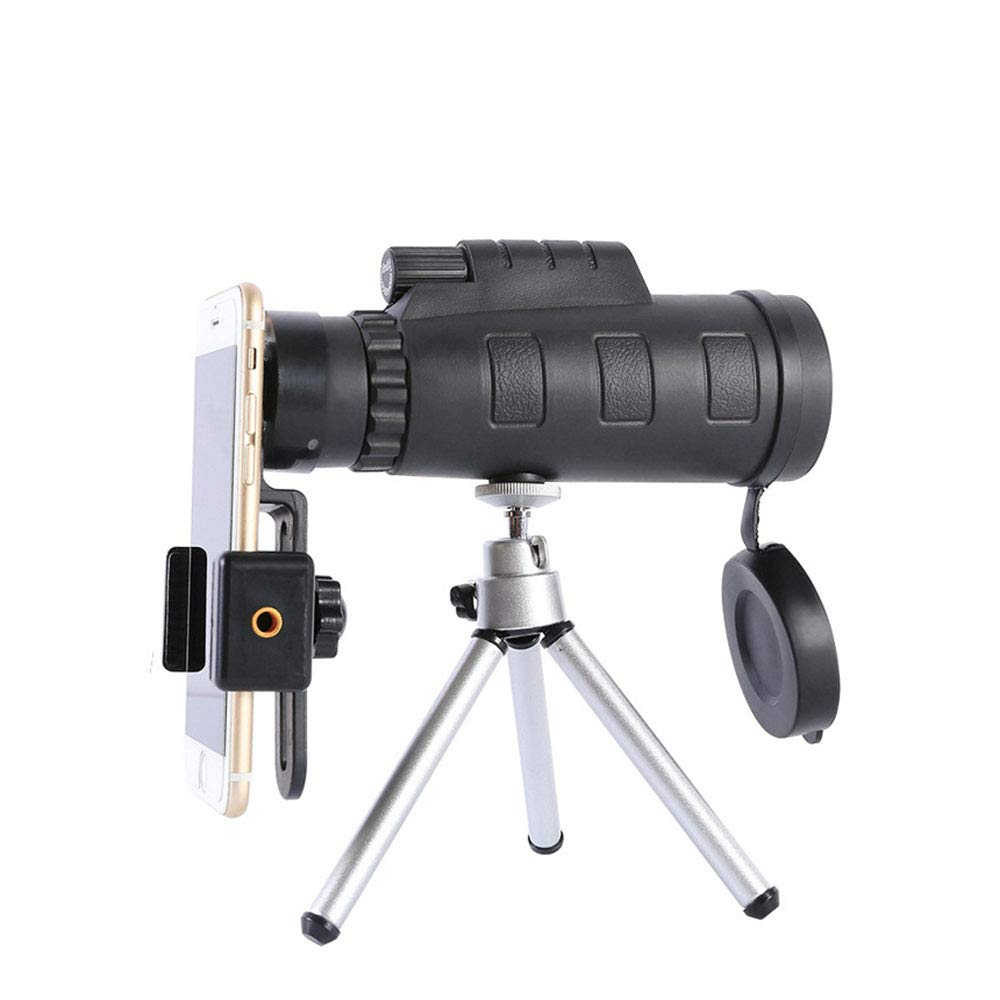 Single-Tube Dual-Focus Telescope Mobile Phone Camera HD Night Vision Mini Outdoor High Power Prism Scope with Waterproof Fog Proof Shockproof