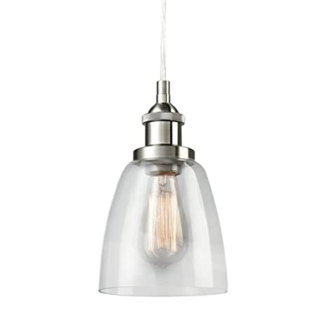Claxy ecopower industrial mini glass pendant brushed nickel hanging claxy ecopower industrial mini glass pendant brushed nickel hanging light fixture aloadofball Image collections