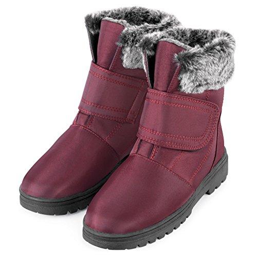 Stylish Winter Slip Resistant Boot, Wine, 9