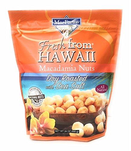Dry Macadamia Nuts (MacFarms Dry Roasted Macadamia Nuts With Sea Salt Fresh From Hawaii 24 Ounce)