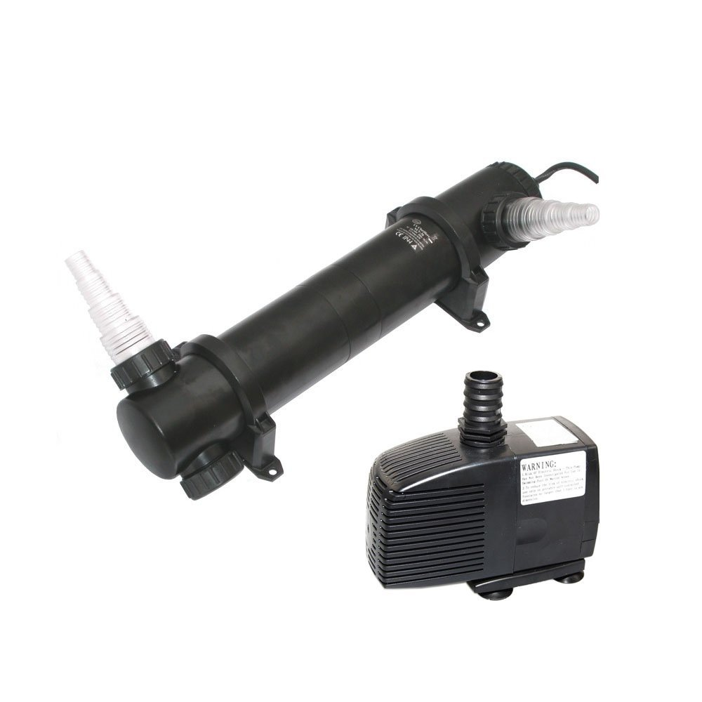 Jebao PU Series UV Clarifier with Pump, 530 GPH/36W