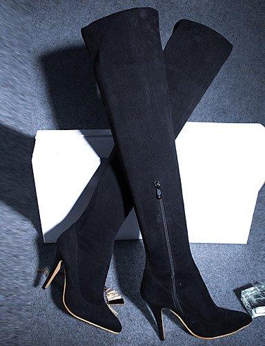 XZZ  Damenschuhe - Stiefel - Büro     Kleid   Lässig   Party & Festivität - Kunstleder - Stöckelabsatz - Rundeschuh - Schwarz   Rot B01L1GS832 Sport- & Outdoorschuhe Für Ihre Wahl 0345f3