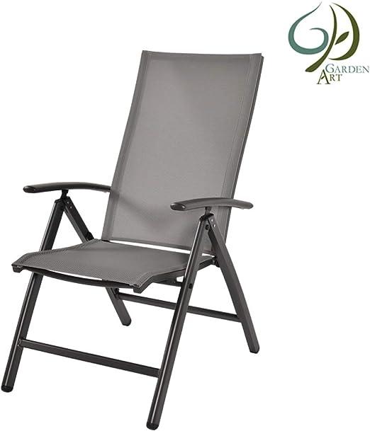Garden Art Garden - Sillón Plegable Premium, línea de Aluminio ...