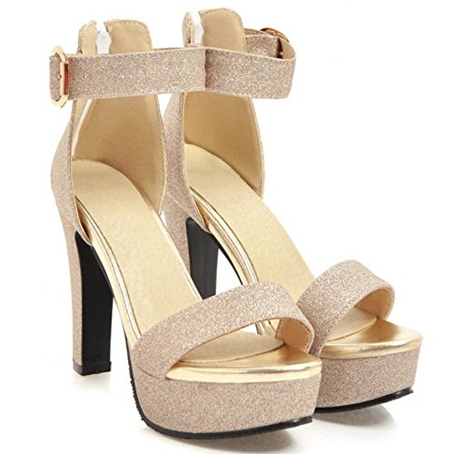 Gold KemeKiss Heel High Sandals Platform Women xwYBqYZ8