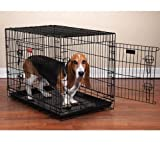 ProSelect Everlasting Dual-Door Dog Crates for Dogs and Pets - Black; Medium, 30