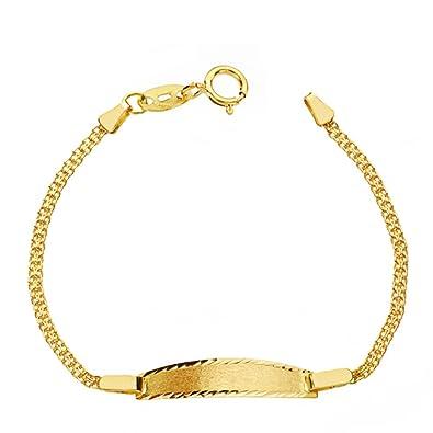 4e3a4ec41458 Alda Joyeros Esclava bebé Oro 18ktes 1ª bismark. Personalizable  Grabado  Gratuito.  Amazon.es  Joyería