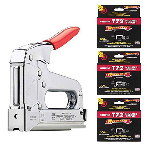Arrow Fastener T72 Wire/Cable Staple Gun (900) 721189 T72 7/8-Inch Cable Staples