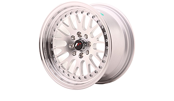 Competition 15x8 ET15 5x114.3//5x100 Alloy Wheels Japan Racing JR10 Silver Machined