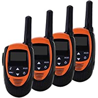 TOOGOO 4PCS Radio Walkie-Talkie PMR 8 Channels UHF400-470MHZ Transceivers (Range Up to 3 KM) Automatic Scanning Backlit LCD Display for All Outdoor Activities