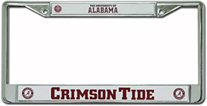 Alabama Crimson Tide Script A with Circle Chrome Frame