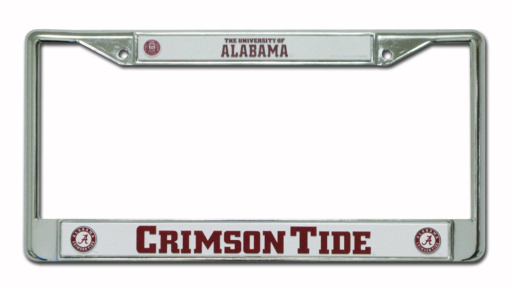 Amazon.com : Alabama Crimson Tide Script A with Circle Chrome Frame ...