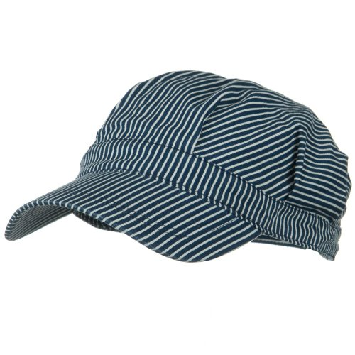 E4hats Conductor's Cap-Blue White 2XL-3XL Railroad Train Engineer -