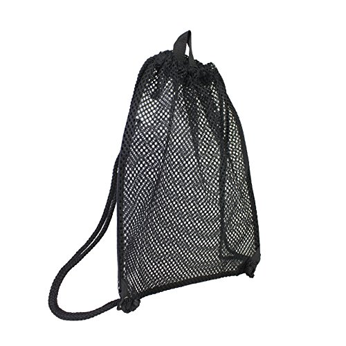 Eastsport High-Capacity Mesh Drawstring with Cinch-able Closure, Black]()