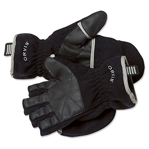 Fold Over Fleece Gloves (Orvis Fold-over Fleece Gloves, Black, Medium)