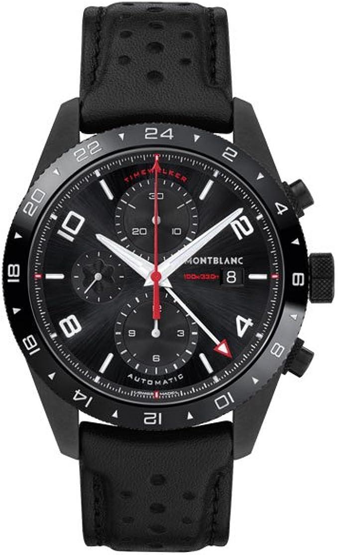 Amazon.com: Montblanc TimeWalker Black Dial Automatic Mens ...