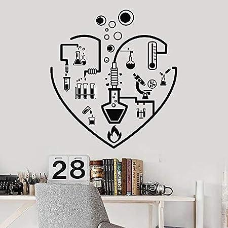LKJHGU Etiqueta de la Pared I Love Química Laboratorio Escuela Laboratorio Cristalería Aula Adolescente Habitación Decoración Interior Vinilo Ventana Etiqueta Mural