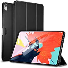 "ESR Yippee Trifold Smart Case for iPad Pro 12.9"" 2018, Lightweight Stand Case,Auto Sleep/Wake[Apple Pencil Charging not Supported],Microfiber Lining, Hard Back Cover for iPad Pro 12.9"" 2018,Black"