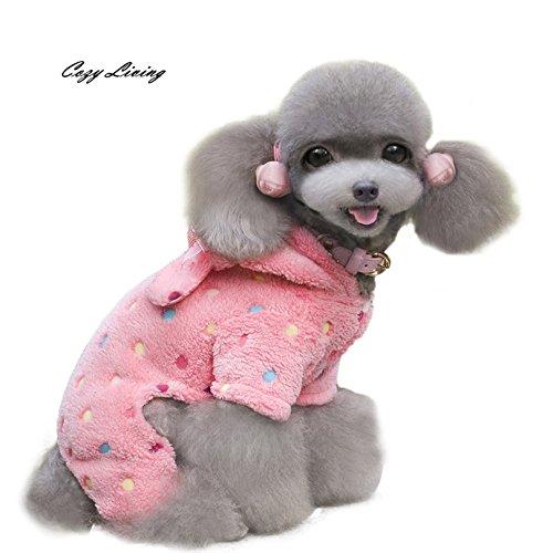 D-World4Pet Clothes - Pet Dog Clothes Winter Colorful Dots Four Legs Sweater Pet Puppy Hoodie S-XL Cute Warm Pet Clothes Coat Wholesale D26 -