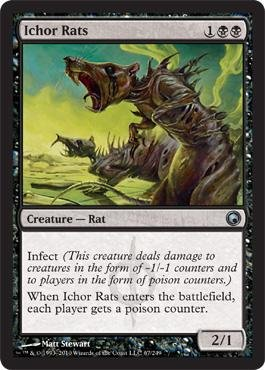 Magic  The Gathering   Ichor Rats   Scars Of Mirrodin