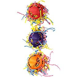 Super Bird Creations Waffle Ball Stuffers Toy for Birds, Set of 3