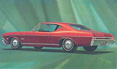 1968 Chevrolet Chevelle Malibu Sport Coupe ORIGINAL Factory Postcard from Chevrolet
