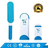 ABUYDI Professional Dog, Cat, Pet Fur Hair Lint Remover Brush with Self-Cleaning Base, Double-Sided include All sizes For Clothes, Furniture in Home and Car
