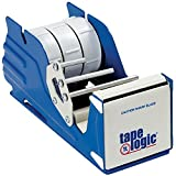 Aviditi SL7336 Steel Multi Roll Table Top Tape Dispenser, 3'' Tape Diameter, Blue