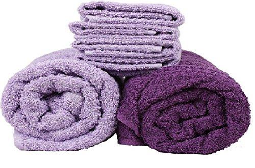 Trident Classic Aroma Lavender Fragrance Bath Towels set (Bath & Hand Towel Set)- Purple & Lavender