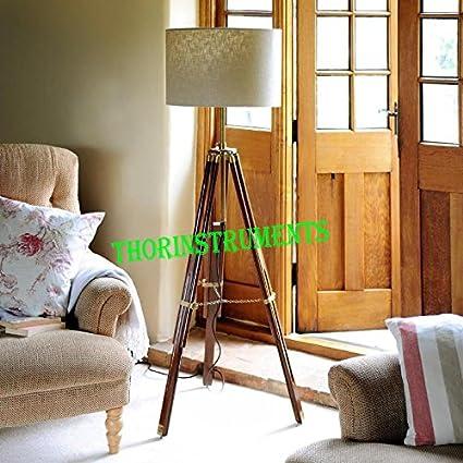 Vintage Designer Tripod Floor Lamp Nautical Floor Lamp Home Decor Lamp
