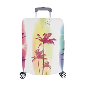Drawing Tree Detailed Spandex Trolley Case Travel Luggage Protector Suitcase Cover 28.5 X 20.5 Inch