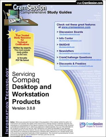 CramSession's APS Servicing Compaq Desktop and Workstation Products : Certification Study Guide - Compaq Top