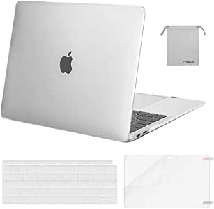 MOSISO MacBook Air 13 Inch Case 2020 2019 2018 Release A2179 A1932 with Retina Display, Plastic Hard Case&Keyboard Cover&Screen Protector&Storage Bag Compatible with MacBook Air 13,Frost